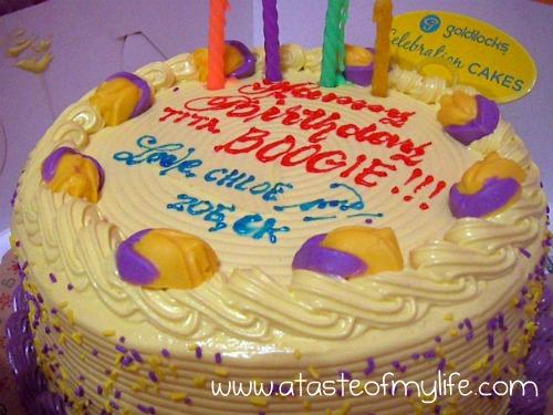 Yummy Sunday 118 My Goldilocks Birthday Cake